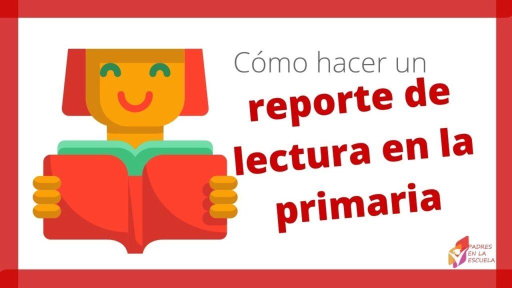Reporte de lectura para niños